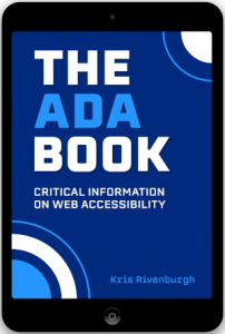 The ADA Book cover inside black ipad tablet
